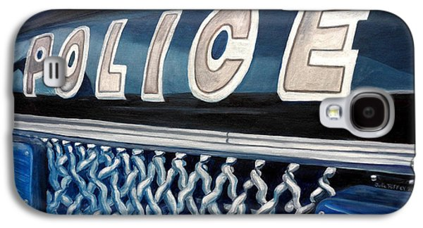 Police Paintings Galaxy S4 Cases - Whatcha Gonna Do When They Come For You? Galaxy S4 Case by Julie Brugh Riffey