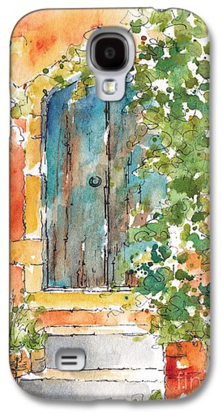 Terra Paintings Galaxy S4 Cases - Whats Behind That Door? Galaxy S4 Case by Pat Katz