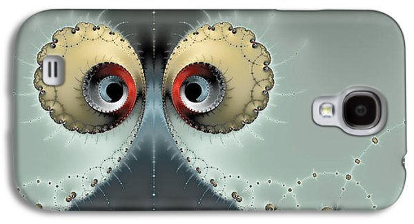 Abstract Digital Photographs Galaxy S4 Cases - Whats going on - Fractal eyes watching you Galaxy S4 Case by Matthias Hauser