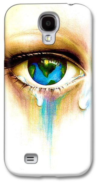 Tear Drawings Galaxy S4 Cases - Whats in a Tear? Galaxy S4 Case by Andrea Carroll