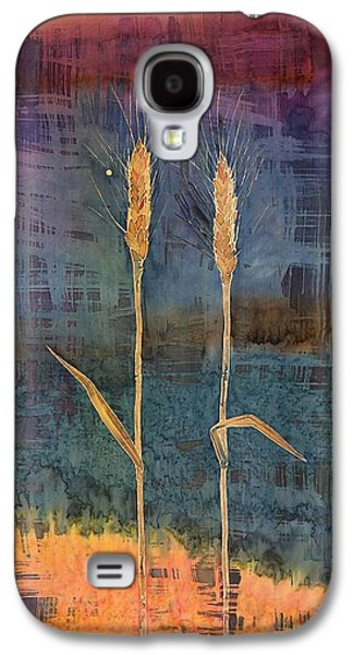 Abstract Tapestries - Textiles Galaxy S4 Cases - Wheat Couple Galaxy S4 Case by Carolyn Doe