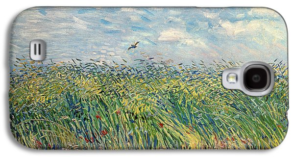 Crops Galaxy S4 Cases - Wheatfield with Lark Galaxy S4 Case by Vincent van Gogh