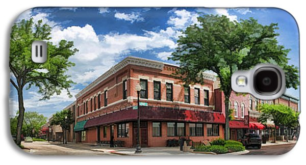 Wheaton Front Street Panorama Galaxy S4 Case by Christopher Arndt