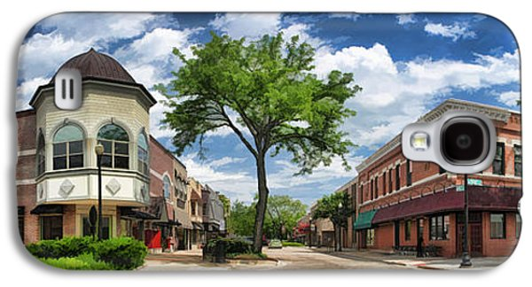 Main Street Galaxy S4 Cases - Wheaton Front Street Panorama Galaxy S4 Case by Christopher Arndt
