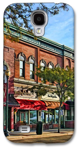 Store Fronts Paintings Galaxy S4 Cases - Wheaton Front Street Stores Galaxy S4 Case by Christopher Arndt