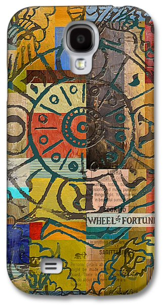 Astronomy Paintings Galaxy S4 Cases - Wheel of Fortune Galaxy S4 Case by Corporate Art Task Force