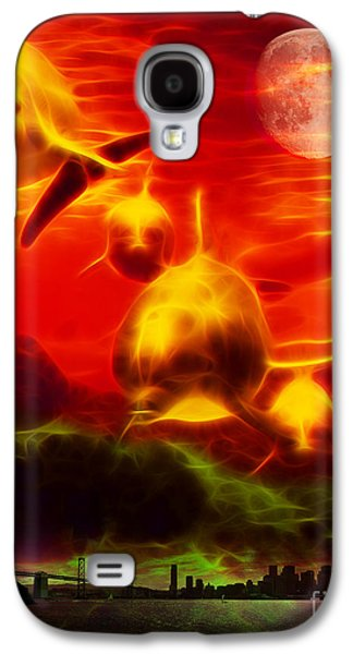 Dolphin Digital Art Galaxy S4 Cases - When Dolphins Cry - v2 Galaxy S4 Case by Wingsdomain Art and Photography