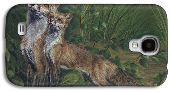 Fox Kit Paintings Galaxy S4 Cases - When I Grow Up Galaxy S4 Case by Sandy Brooks