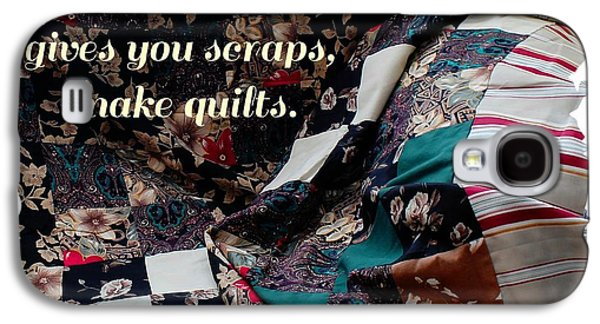 Block Quilts Tapestries - Textiles Galaxy S4 Cases - When Life Give You Scraps Make Quilts Galaxy S4 Case by Barbara Griffin