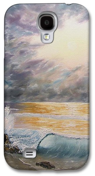 Bob Ross Paintings Galaxy S4 Cases - When Oceans Rise Galaxy S4 Case by Gavin Kutil