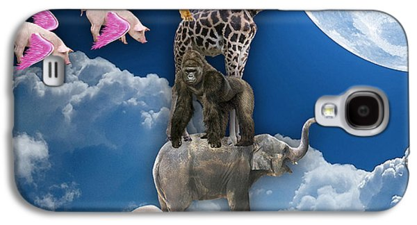 When Pigs Fly Galaxy S4 Case by Marvin Blaine