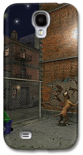 Man In The Moon Galaxy S4 Cases - When Stars Fall in the City Galaxy S4 Case by Cynthia Decker
