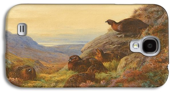 Gloaming Galaxy S4 Cases - When The Gloaming Comes - Red Grouse Galaxy S4 Case by Celestial Images