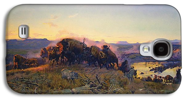 Charles Digital Art Galaxy S4 Cases - When The Land Belonged To God Galaxy S4 Case by Charles Russell