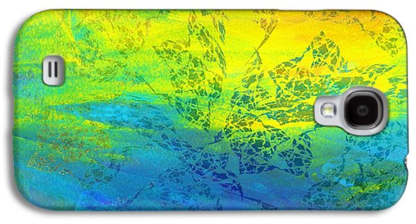 Sunset Abstract Galaxy S4 Cases - When the Sun Goes Down Galaxy S4 Case by Klara Acel