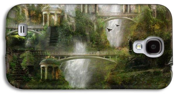 Mystical Landscape Galaxy S4 Cases - Where Elven Folk Dwell Galaxy S4 Case by Karen H