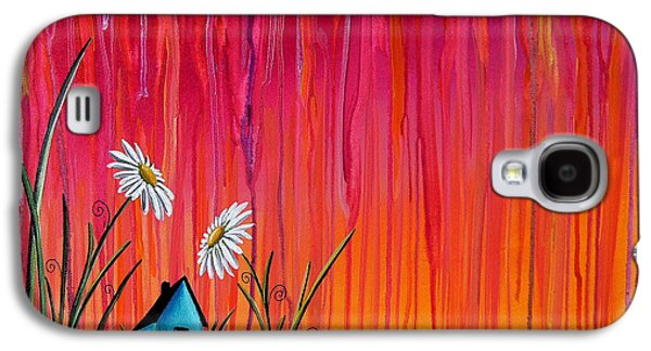 Rain Paintings Galaxy S4 Cases - Where Flowers Bloom Galaxy S4 Case by Cindy Thornton