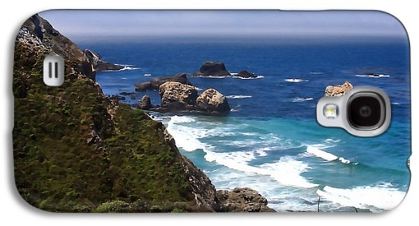 Big Sur Ca Galaxy S4 Cases - Where Mountains Meet the Shore Galaxy S4 Case by Art Block Collections