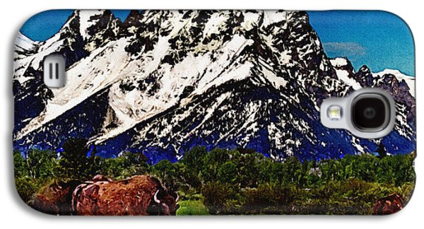 Bison Digital Galaxy S4 Cases - Where the Buffalo Roam Galaxy S4 Case by  Bob and Nadine Johnston