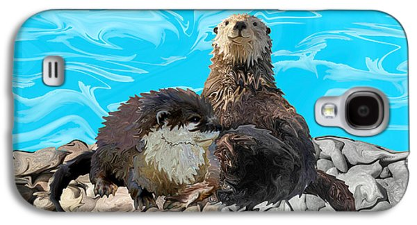 Where The River Meets The Sea Otters Galaxy S4 Case by Sherin  Hylan