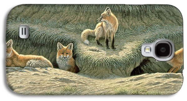 Where's Mom-fox Pups Galaxy S4 Case by Paul Krapf