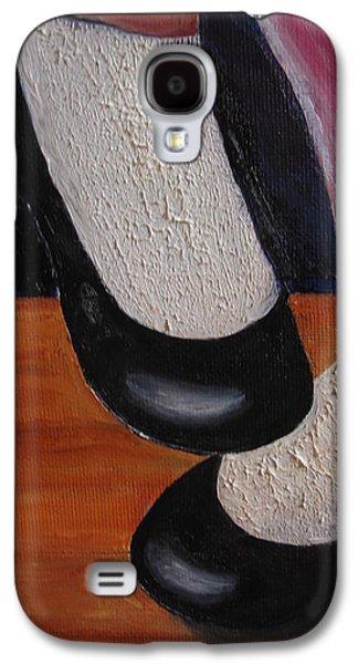 Dance Floor Paintings Galaxy S4 Cases - Wheres the Bathroom? Galaxy S4 Case by MaryEllen Frazee
