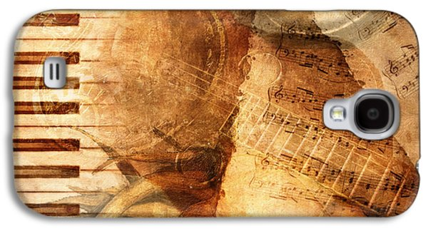 Torn Galaxy S4 Cases - While My Guitar Gently Weeps Galaxy S4 Case by Lianne Schneider