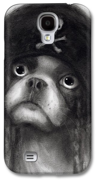 Texas Artist Galaxy S4 Cases - Whimsical Funny French Bulldog Pirate  Galaxy S4 Case by Svetlana Novikova