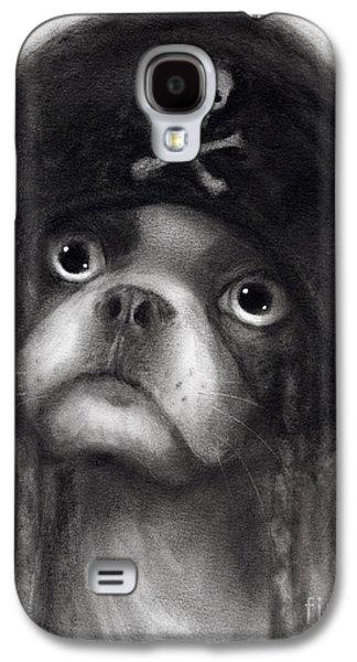 Original Drawings Galaxy S4 Cases - Whimsical Funny French Bulldog Pirate  Galaxy S4 Case by Svetlana Novikova