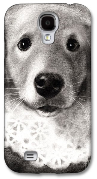 Puppy Drawings Galaxy S4 Cases - Whimsical Labrador Retriever in a costume Galaxy S4 Case by Svetlana Novikova