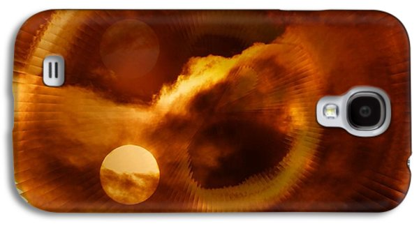 Abstract Digital Art Galaxy S4 Cases - Whirling In The Clouds Galaxy S4 Case by Jeff  Swan