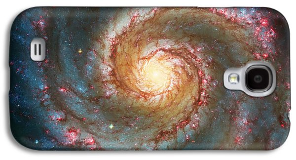 Outer Space Galaxy S4 Cases - Whirlpool Galaxy  Galaxy S4 Case by The  Vault - Jennifer Rondinelli Reilly
