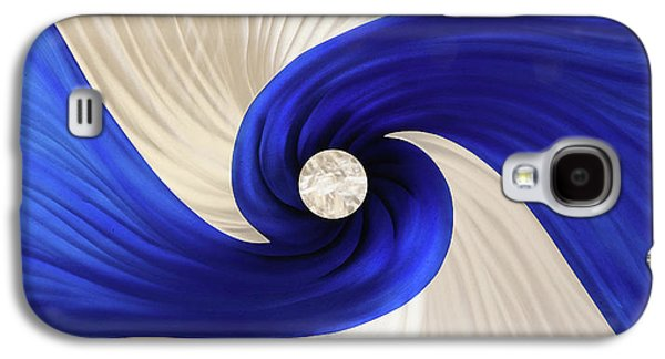 Blue Abstracts Sculptures Galaxy S4 Cases - Whirlpool Galaxy S4 Case by Rick Roth