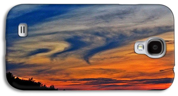 Sunset Abstract Galaxy S4 Cases - Whirlpool Sunset Galaxy S4 Case by Marianna Mills