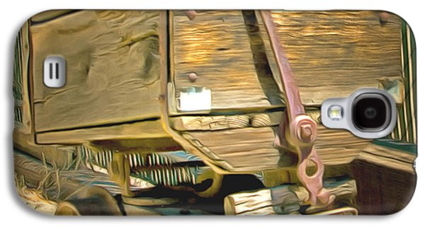 Mining Photos Galaxy S4 Cases - Whiskey Flats Ore Wagon Galaxy S4 Case by Barbara Snyder