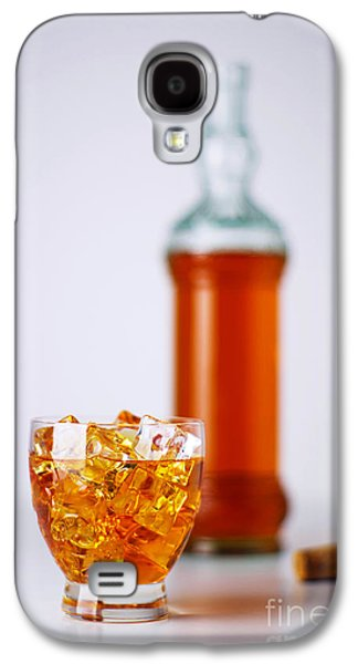 Whisky Galaxy S4 Cases - Whiskey Glass Galaxy S4 Case by Carlos Caetano
