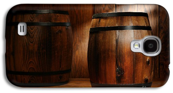 Whisky Galaxy S4 Cases - Whisky Barrel Galaxy S4 Case by Olivier Le Queinec