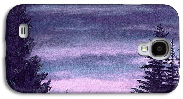 Skylines Pastels Galaxy S4 Cases - Whispering Pines Galaxy S4 Case by Michael Heikkinen