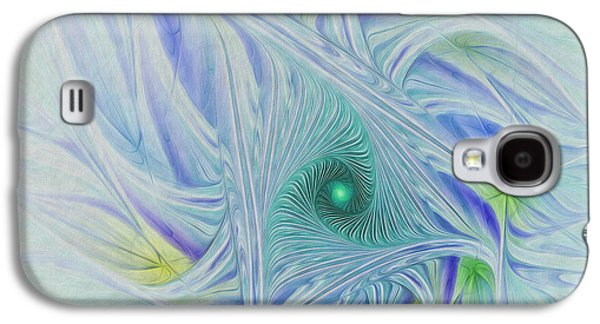 Abstract Digital Galaxy S4 Cases - Whispy Willow Galaxy S4 Case by Deborah Benoit