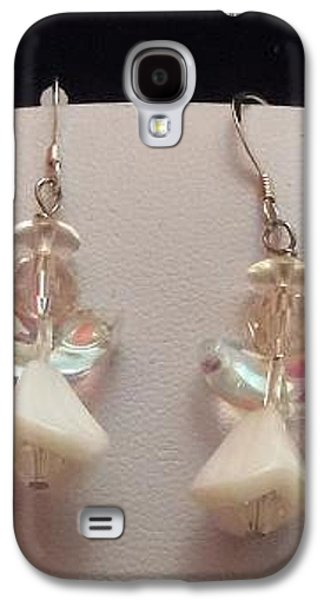 Flower Jewelry Galaxy S4 Cases - White Angel Earrings Galaxy S4 Case by Kimberly Johnson