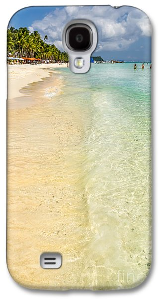 Vacation Digital Art Galaxy S4 Cases - White Beach Boracay Galaxy S4 Case by Adrian Evans