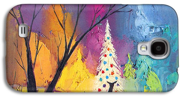 Christmas Cards - Galaxy S4 Cases - White Christmas Tree Galaxy S4 Case by Munir Alawi