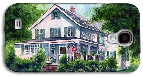 In The Shade Galaxy S4 Cases - White country farmhouse Galaxy S4 Case by Janine Riley