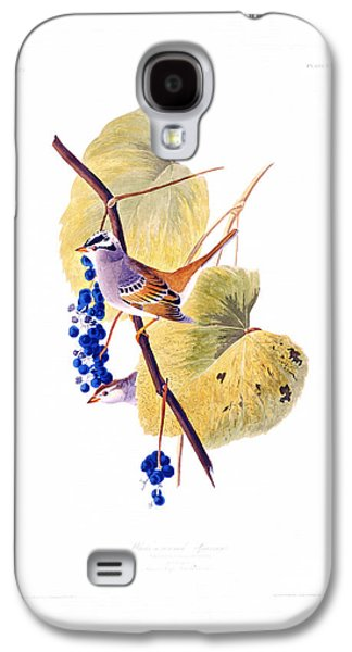 Landscape Acrylic Prints Galaxy S4 Cases - White Crowned Sparrow Galaxy S4 Case by Celestial Images