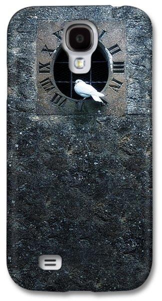 Clock Galaxy S4 Cases - White Dove Galaxy S4 Case by Joana Kruse