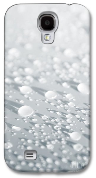 Abstract Rain Galaxy S4 Cases - White Droplets Galaxy S4 Case by Carlos Caetano
