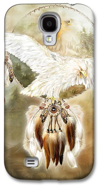 Eagle Mixed Media Galaxy S4 Cases - White Eagle Dreams Galaxy S4 Case by Carol Cavalaris