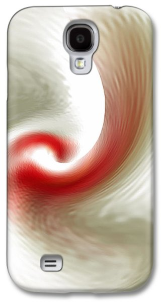 Ben Gertsberg Digital Art Galaxy S4 Cases - White Flower Abstraction Galaxy S4 Case by Ben and Raisa Gertsberg