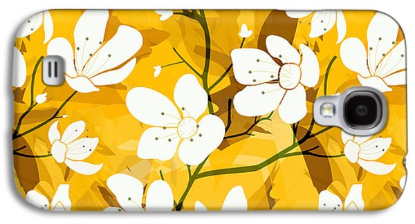 White Flowers Of Early Summer Galaxy S4 Case by Bedros Awak