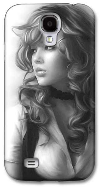 Slaves Drawings Galaxy S4 Cases - White Girl Galaxy S4 Case by Na
